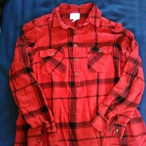 Isabel Maternity Plaid Shirt